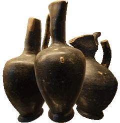 Etruscan Vases Black Ceramics Cerveteri Museum