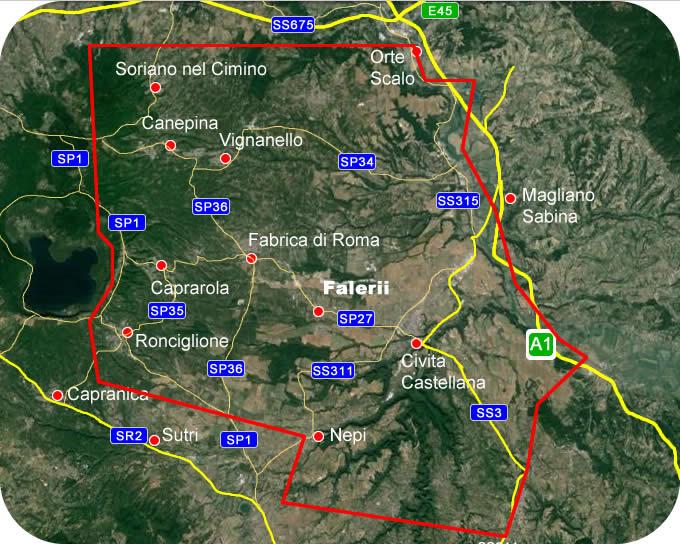 Etruscan Corner Geographic Map Lucumonia Falerii Veteres