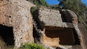 Etruscan Corner Land Norchia Cube Tomb