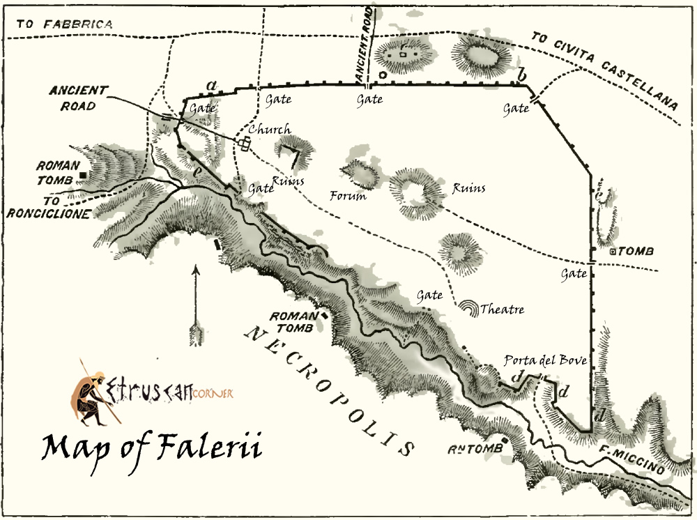 Map of Falerii Etruscan Corner