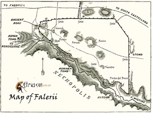 Map of Falerii small Etruscan Corner