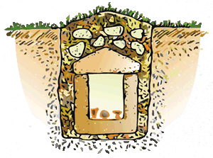 Etruscan Corner Cist Tomb