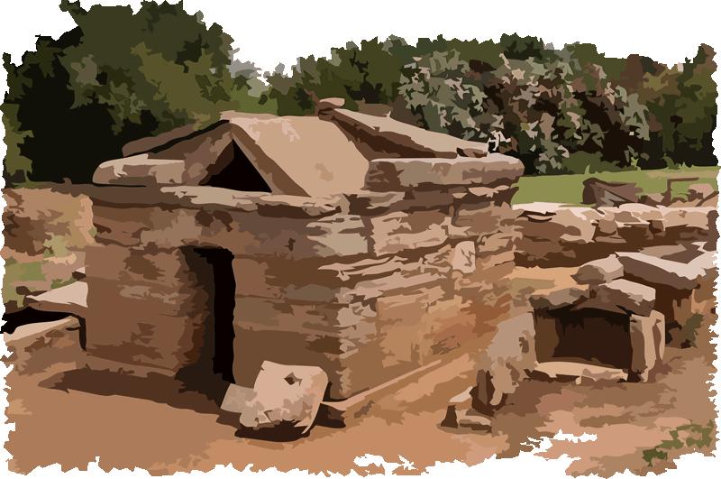 Etruscan Corner Aedicula Tomb Necropolis of Populonia