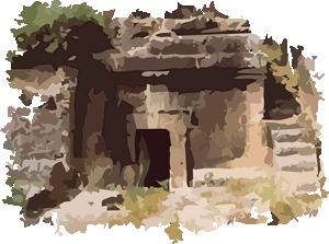 Etruscan Corner Cube Tomb