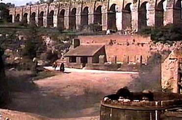 Tuscia for Film Fanatics Monicelli Armata Brancaleone Nepi Roman Aqueduct