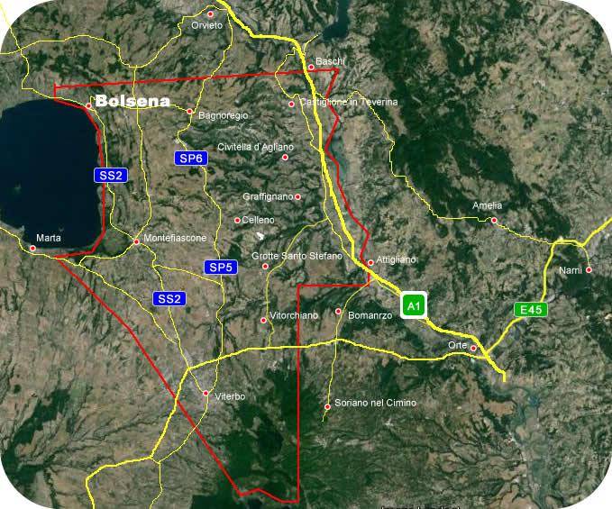 Etruscan Corner Carta Geografica Lucumonia Bolsena