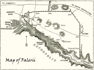 Mappa di Falerii Etruscan Corner