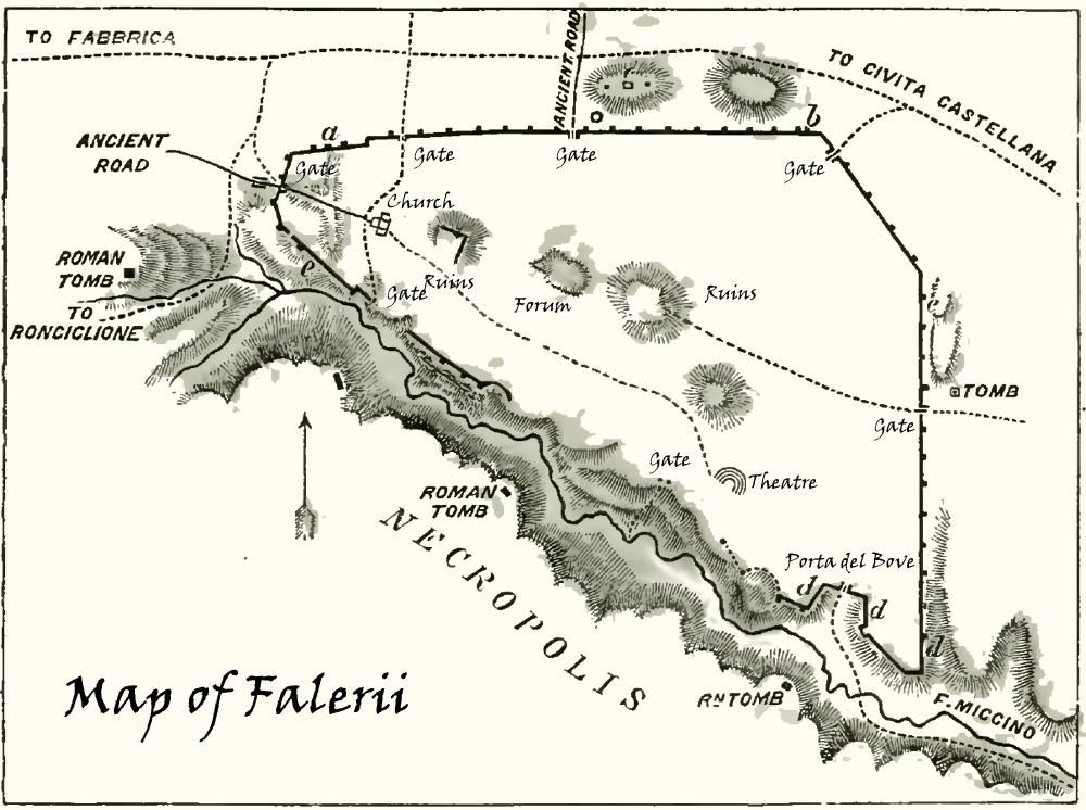 Mappa di Falerii