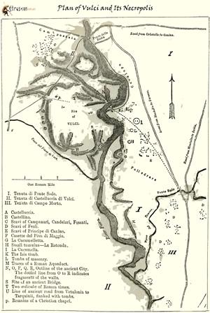 Mappa di Vulci e Necropoli small Etruscan Corner