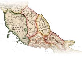 Etruscan Corner Mappa Etruria Antica