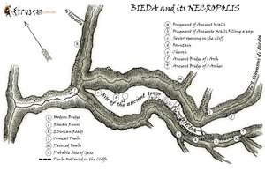 Etruscan Corner Mappa Necropoli di Blera Bieda small