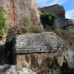 Etruscan Corner Necropoli di Norchia Tombe a Dado Costone Sud Panoramica