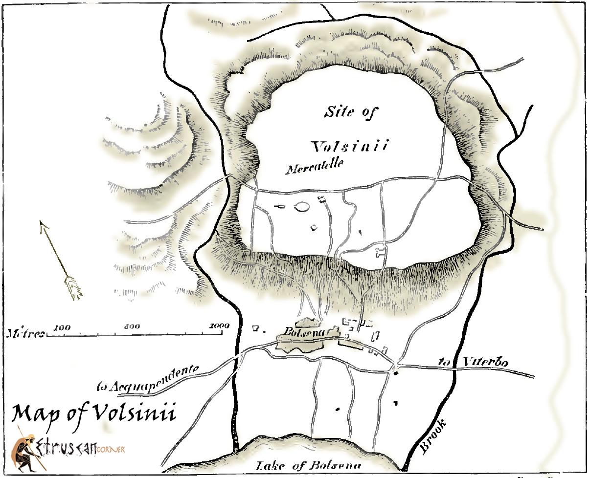Mappa di Volsinii Bolsena
