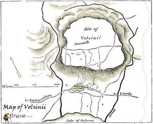 Mappa di Volsinii Small Etruscan Corner
