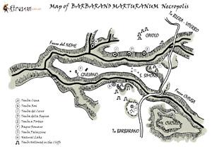 Etruscan Corner Mappa Necropoli di Barbarano Marturanum Small