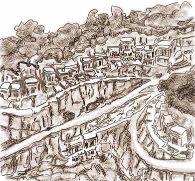 Etruscan Corner Necropoli di Norchia Ricostruzione