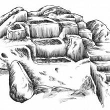 Acropoli di Acquarossa Altare Sacrificale Ricostruzione Etruscan Corner