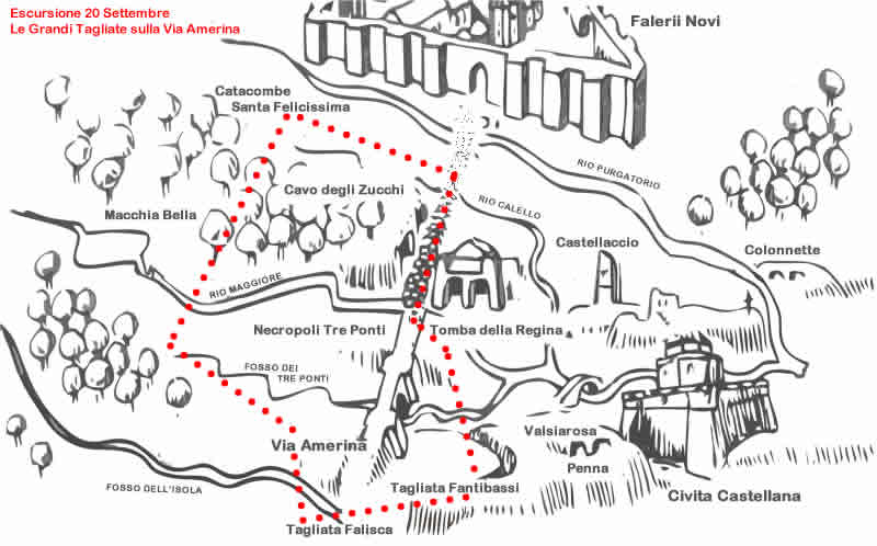 Etruscan Corner Escursione Le grandi Tagliate della Via Amerina