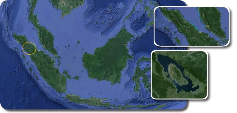 Origini dell'Uomo Ominazione Vulcano Toba Sumatra Caldera e Lago
