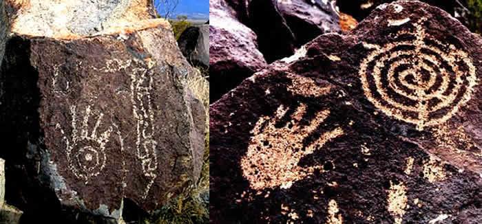 Grotte Sacre California Arizona Mani Spirali Estruscan Corner