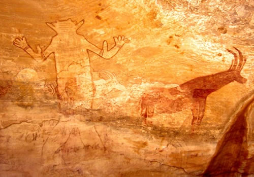 Grotte Sacre Pitture Rupestri Tassili Algeria