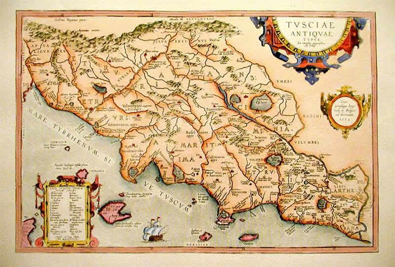 Il Miracolo di Sutri Tracce del Passato Etruscan Corner Mappa Antica Tuscia