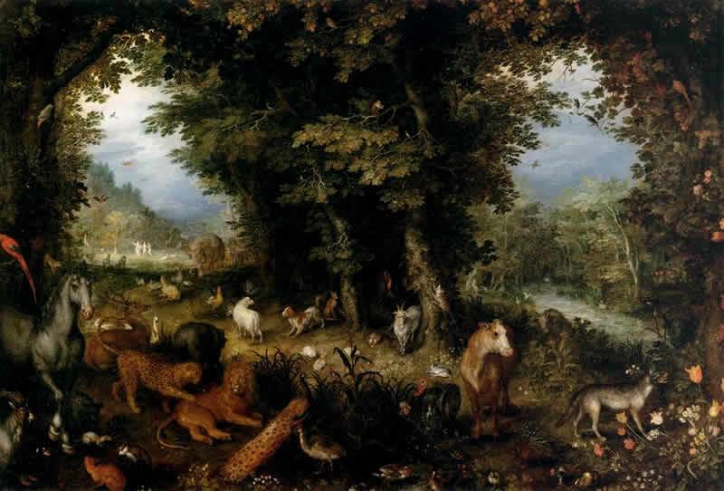 Brueghel il Vecchio Paradiso Terrestre Giardini Sacri