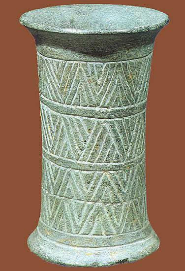 Vaso Clorite Verde Mesopotamia Abu Dio Della Vegetazione