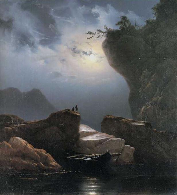 La Memoria Condivisa dei Popoli Europei Knud Baade Paesaggio Costiero al Chiaro di Luna