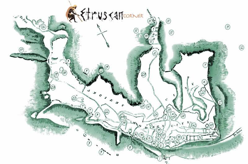 Etruscan Corner - Tombe e Necropoli - Icona Mappe