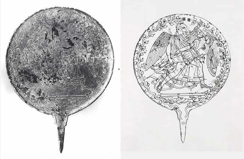 Antiquarium di Piansano - Specchio Eos e Memnos
