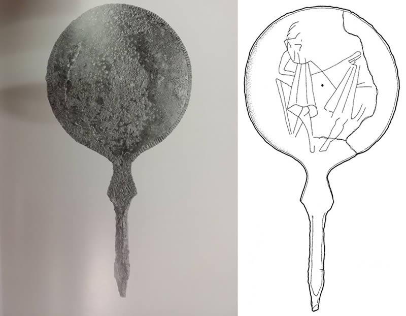 Antiquarium di Piansano - Specchio dei Dioscuri
