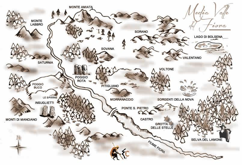 La Grotta Delle Stelle- Mappa Fiora