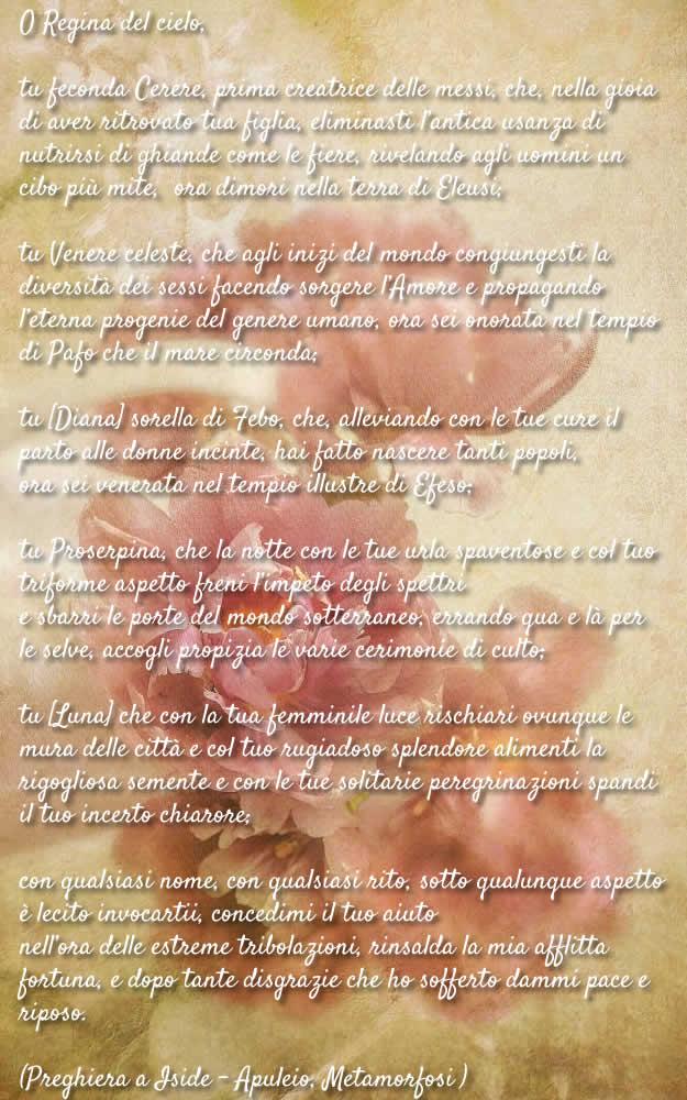 Da Dea A Dio- Apuleio - Preghiera A Iside