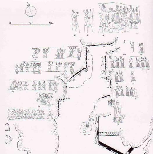 Yazılıkaya - Santuario e Calendario Lunisolare - Camera A Incisioni