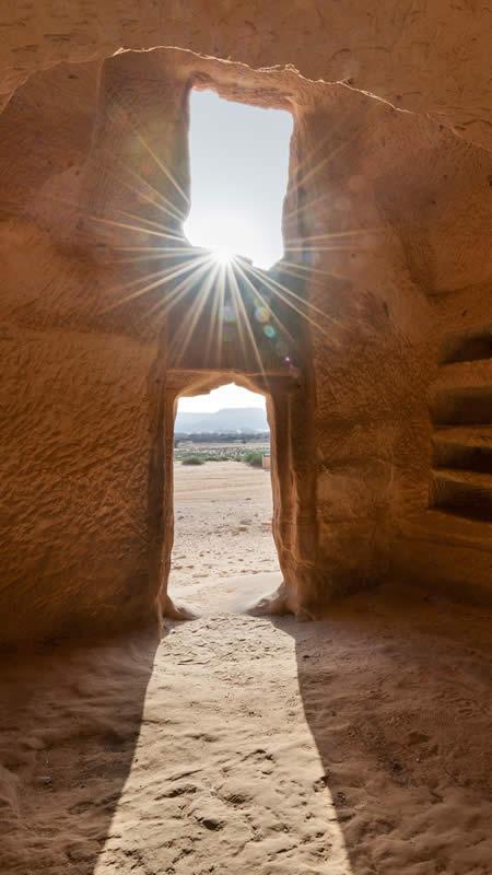 Scritto Nella Roccia - Mada'in Saleh Interno Tomba