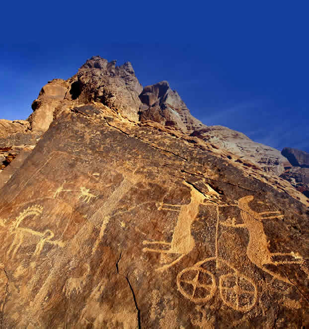 Scritto Nella Roccia - Parte 4 - Jubbah - Petroglifo Carro