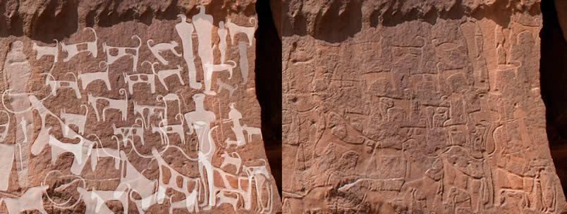 Scritto Nella Roccia - Shuwaymis - Petroglifi Cani