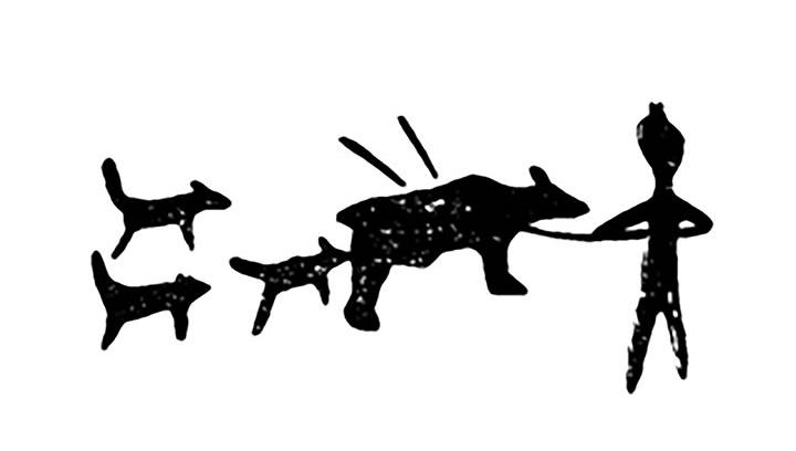 Scritto Nella Roccia - Siberia - Cani Con Orso