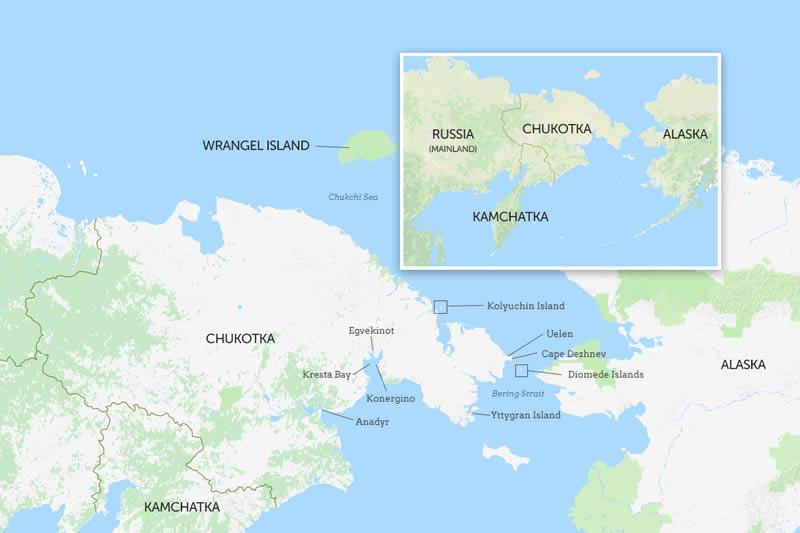 Scritto Nella Roccia - Siberia - Mappa
