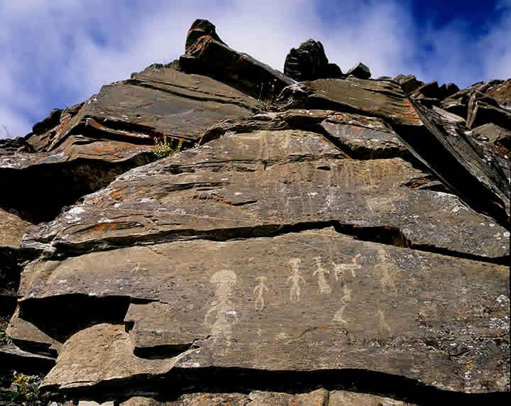 Scritto Nella Roccia - Siberia - Uomini - Fungo